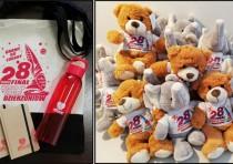 Misie, butelki, kubki, koszulki, torby…